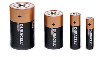 DURACELL MN2400 BATTERY, AAA size, alkaline, 1.5V (pack of 4)