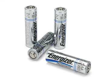 ENERGIZER L91 BATTERY, AA size, lithium (pack of 4)