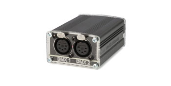 ELC LIGHTING DMXLAN BUDDY DMX NODE 2x DMX port, 1x USB port, 1x Ethernet port, 5-pin XLR
