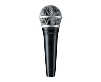 SHURE PGA48-QTR MICROPHONE Handheld dynamic, with XLR-Jack lead