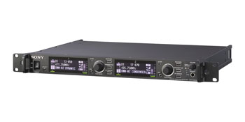 SONY DWR-R02DN RADIOMIC RECEIVER Fixed, 1U rackmount, 2-channel, 24-bit/96kHz, 470-710MHz