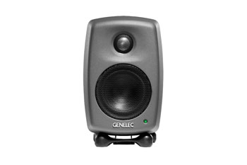GENELEC 8010A LOUDSPEAKER Active, 2-way, 25/25W, class D amplifiers, studio, dark grey, (pair)