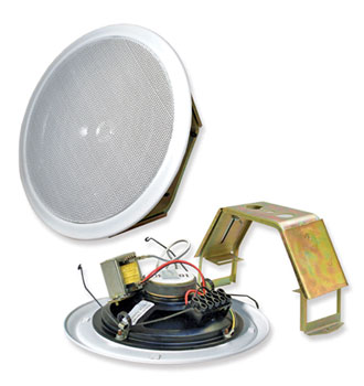 ADS OMEGA 6 LOUDSPEAKER Circular, ceiling, flush fix, 0.5-6W taps