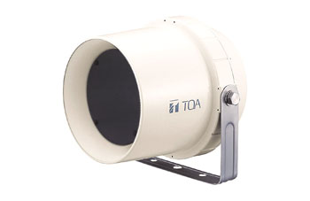 TOA CS-64 LOUDSPEAKER Weatherproof, cylindrical paging horn, 0.4-6W taps, IP-64, off-white