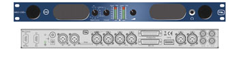 TSL AMU1-CHD+ MONITORING UNIT 1U rackmount, loudspeakers, 2x26-LED meters, 2 st, 2x AES, SDI in