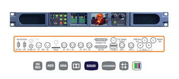 TSL PAM1 MK2 AUDIO MONITOR 16 channel display, 2x HD/SDI I/O, 4x AES I/O, Dolby