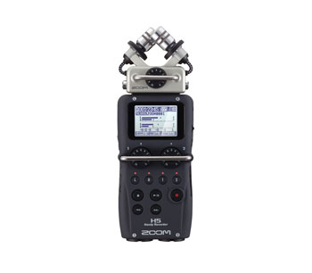 ZOOM H5 HANDY RECORDER Portable, MP3/WAV, SD/SDHC card, modular mic capsules, 2x mic/line in