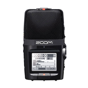ZOOM H2N HANDY RECORDER Portable, MP3/WAV, SD/SDHC card, 2 or 4-channel, X/Y or MS mode, 2x2 USB I/O
