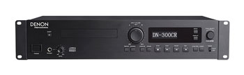 DENON DN-300CR CD RECORDER CD-R, CD-RW, digital coaxial/optical, balanced XLR/unbalanced RCA out, 2U
