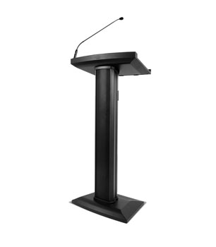 DENON LECTERN ACTIVE 100W (RMS), gooseneck mic, USB power, RCA, 3.5mm socket, XLR line out, black