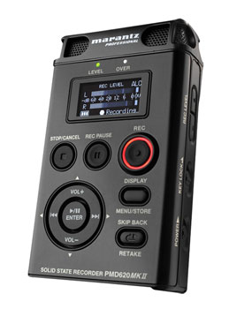 MARANTZ PMD 620MKII PORTABLE RECORDER For SD card, microphone in with power, line in, out, USB