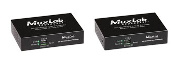 MUXLAB 500756 VIDEO EXTENDER KIT 3G-SDI over IP, POE, RS232, 120m reach point to point