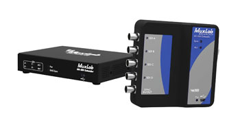 MUXLAB 500730 VIDEO EXTENDER 6G-SDI over Cat5e/6, with power to transmitter, 100m reach