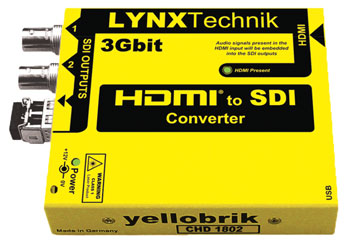 LYNX YELLOBRIK CHD 1802 VIDEO CONVERTER HDMI to 3G/HD/SD SDI