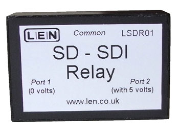 LEN LSDR01 VIDEO RELAY 2x1, changeover, 3x BNC, SD SDI