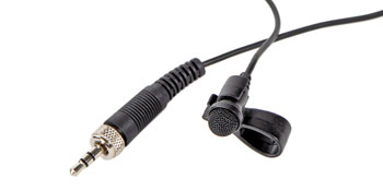 TRANTEC MIC-LP2 MICROPHONE Lapel, 200Hz-16kHz, for radiomic, screw jack, black