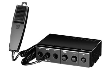TOA CA-115 MOBILE MIXER AMPLIFIER 15W/4, 15W/8, 12V DC, with microphone