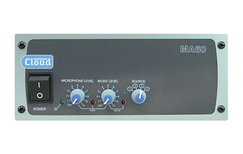 CLOUD MA60 MIXER AMPLIFIER 60W/4, 1x mic, 4x line inputs