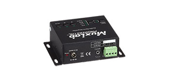 MUXLAB 500216 AUDIO AMPLIFIER 40W/8 bridged, 2x 20W/4, mic, line and slave in, link out, RS232, IR