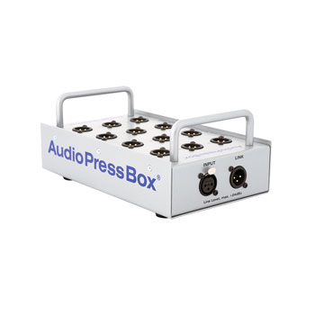 AUDIOPRESSBOX APB-P112 SB PRESS SPLITTER Passive, stagebox, 1x line in, 12x mic out