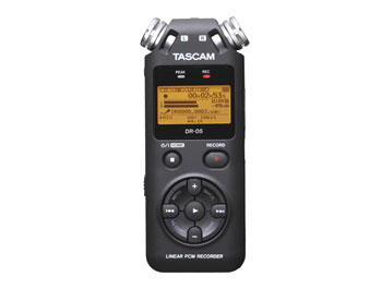 TASCAM DR-05 PORTABLE RECORDER For micro SD / SDHC card, 2x inbuilt microphone, mic / line in