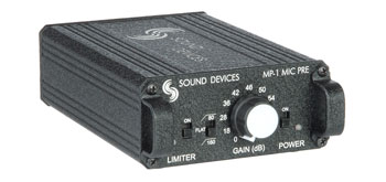 SOUND DEVICES MP-1 MICROPHONE PREAMPLIFIER 1 channel