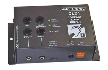 AMPETRONIC CLD1 LOOP DRIVER Compact, DC power, no microphone, no loop