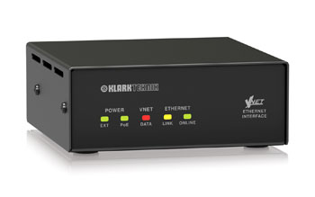 KLARK TEKNIK VNET ETHERNET INTERFACE Ethernet to VNET converter