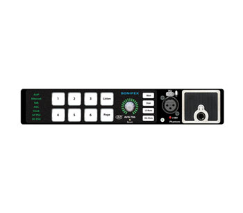 SONIFEX AVN-TB6 TALKBACK INTERCOM 6 button, AES67 AoIP, freestanding