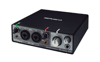 ROLAND RUBIX-22 USB AUDIO INTERFACE 2x2, mic/line in, phantom, MIDI I/O, desktop