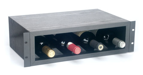 CANFORD RACKWINE Winerack, rack mount 3U, black