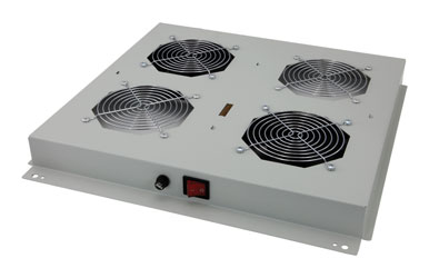 LANDE ROOF FAN TRAY 2 fans, on/off switched, for ES362, ES462 rack, grey