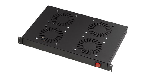 CANFORD FRONT MOUNT FAN TRAY 4 fans, on/off switched, black