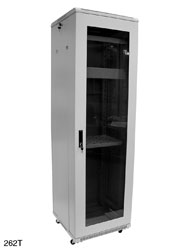 ENCLOSURE SYSTEMS 2626847/G-T RACK CABINET 47U, 600w, 800d, grey, assembled