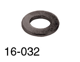 RACKMOUNT WASHERS Plain, black (pack of 25)