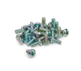RACKMOUNT BOLTS Pan, pozi, nickel, 12mm (pack of 50)
