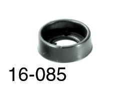RACKMOUNT WASHERS Cup, flanged, black plastic (pack of 25)