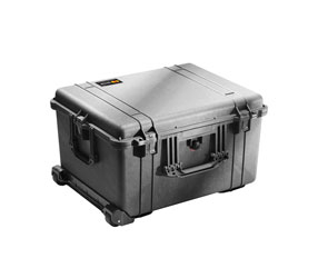 PELI 1620 PROTECTOR CASE With padded dividers, internal dimensions 543x414x319mm, black