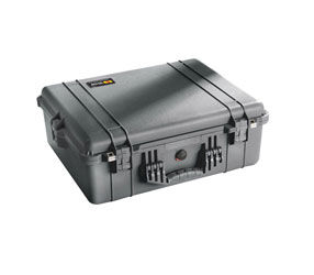 PELI 1600 PROTECTOR CASE With padded dividers, internal dimensions 546x420x202mm, black