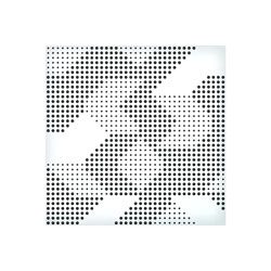 ARTNOVION KOMODO W AE ABSORBER Fire rated (FR++), 595x595mm, blanc, pack of 8
