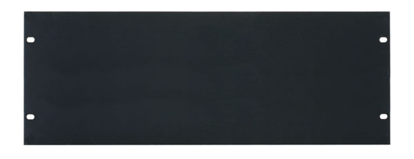 CANFORD RACK PANEL BLANK, FULL WIDTH 4U Flat aluminium, black anodised