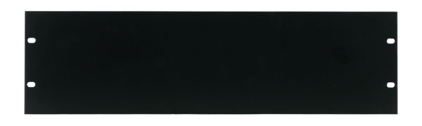 CANFORD RACK PANEL BLANK, FULL WIDTH 3U Steel, black painted