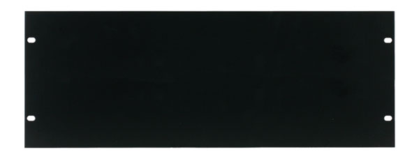 CANFORD RACK PANEL BLANK, FULL WIDTH 4U Steel, black painted