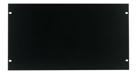 CANFORD RACK PANEL BLANK, FULL WIDTH 6U Steel, black painted