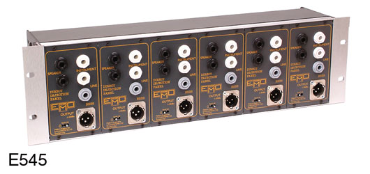 EMO E545 DI BOX Passive, 6 channel, with earth lift, 3U rackmount