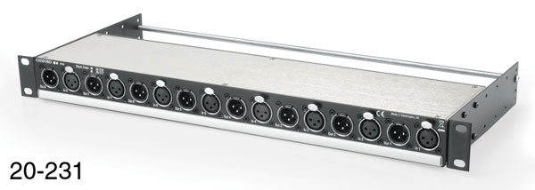 CANFORD LINE ISOLATING UNIT AES/EBU, balanced, XLR in/out, 110 ohms, 8 channel, rack mounting