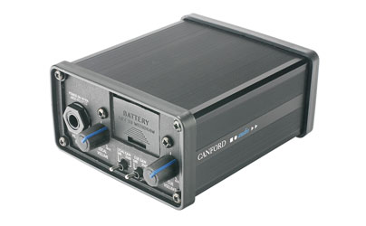 CANFORD HEADPHONE CUE AMPLIFIER Battery powered, 2 channel, 6.35mm jack out, 2x XLR in