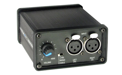 CANFORD BATTERY HEADPHONE AMPLIFIER Mk.2 Stereo, 6.35mm and 3.5mm jacks out, 2x XLRF in