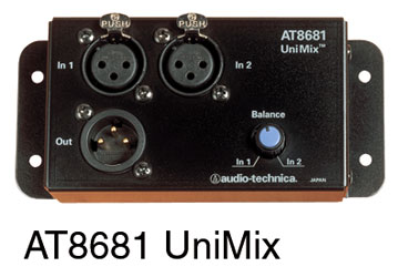 AUDIO-TECHNICA AT8681 UNIMIX Two to one microphone combiner