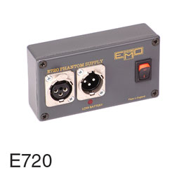 EMO E720 PHANTOM POWER SUPPLY P48, 1 channel, PP3 battery powered